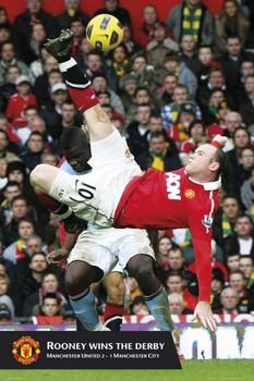Plakát Manchester United - rooney 2010/2011
