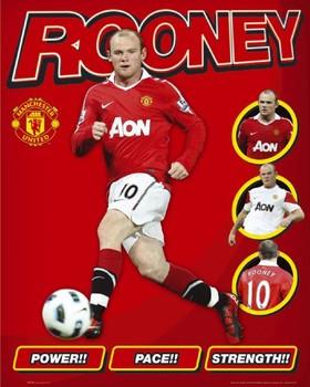 Plakát Manchester United - rooney