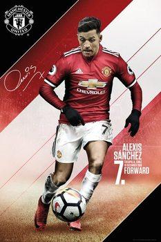 Plakát  Manchester United - Sanchez 17-18
