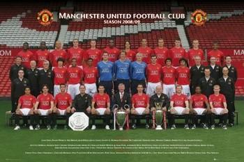 Plakát Manchester United - Team photo 08/09