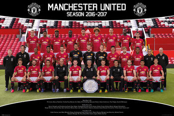 Plakát Manchester United - Team Photo 16/17