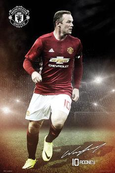 Plakát Manchester United - Wayne Rooney 16/17