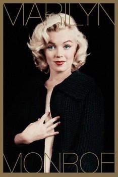 Plakát MARILYN MONROE - black & gold
