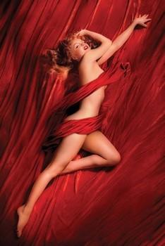 Plakát MARILYN MONROE - red isilk