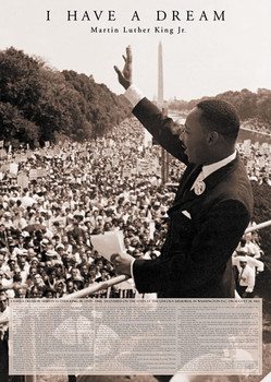 Plakát Martin Luther King
