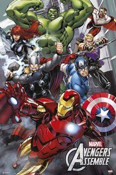Plakat Marvel - Avengers Assemble