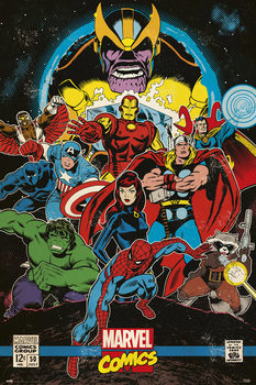 Plakat  Marvel Comics - Infinity Retro