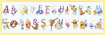 Plakát MEDVÍDEK PÚ - abeceda