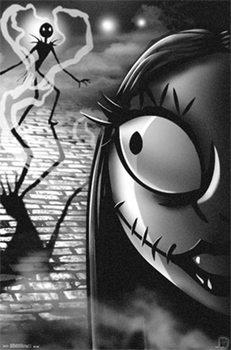 Plakat Miasteczko Halloween - Jack and Sally