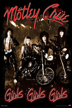 Plakát Mötley Crüe - Girls Girls Girls