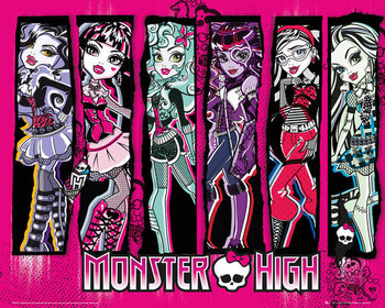 Plakat Monster high - group