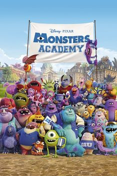 MONSTERS UNIVERSITY - academy  plakát, obraz