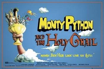 Plakat MONTY PYTHON - santo grial
