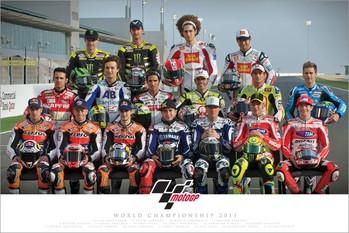 Plakát Moto GP - riders 2011