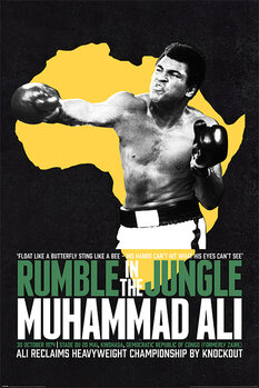 Plakát Muhammad Ali - Rumble in the Jungle