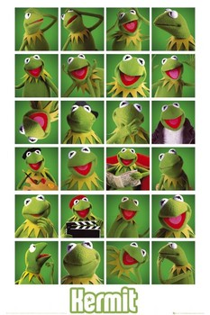 Plakát  MUPPETS - kermit collage