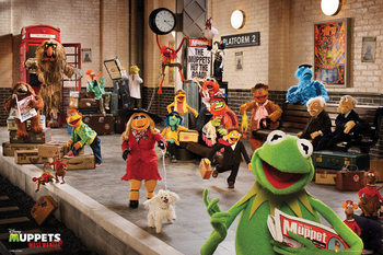 Plakat  MUPPETS MOST WANTED - cast