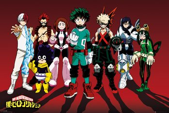 Plakát My Hero Academia - Line Up