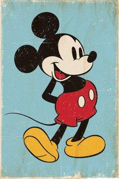 Plakat Myszka Miki (Mickey Mouse) - Retro