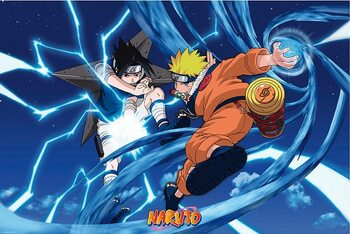 Plakat Naruto Shippuden - Naruto & Sasuke