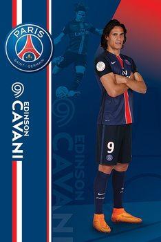 Plakát Paris Saint-Germain FC - Edinson Cavani