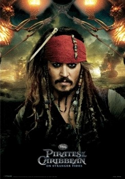 PIRATES OF THE CARIBBEAN 4 - jack  Plakat 3D Oprawiony
