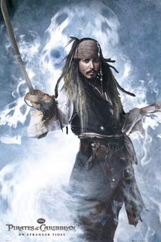 Plakát PIRÁTI Z KARIBIKU 4 - jack sword