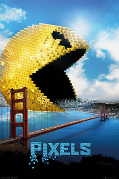 Plakát Pixely - Pacman