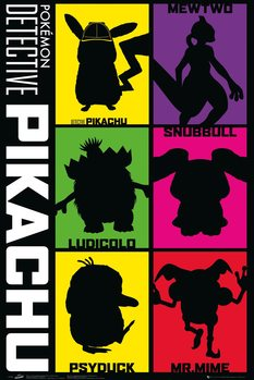 Plakát  Pokemon: Detektiv Pikachu - Silhouette