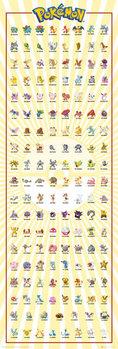 Plakat Pokemon - Kanto 151