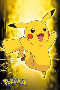 Plakat Pokemon - Pikachu Neon
