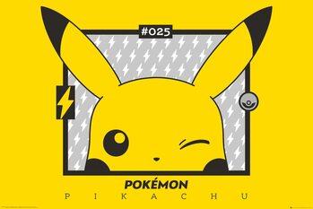 Plakát Pokemon - Pikachu wink