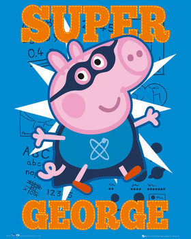 Plakát Prasátko Pepa - Super George