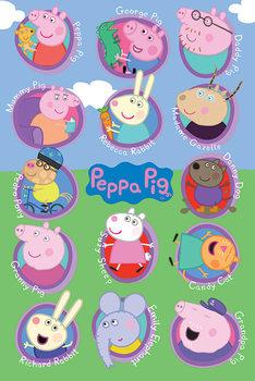 Plakát  Prasátko Peppa - Multi Characters