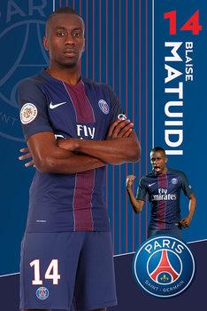 Plakat PSG Matuidi 16 -17