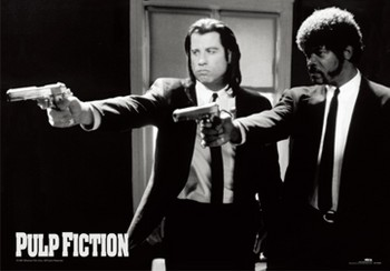 Pulp fiction - guns Plakat 3D Oprawiony