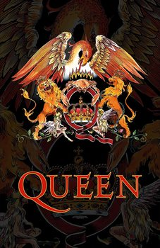 Textilní plakát Queen - Crest