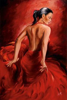 Plakat R. Magrini Flamenco - Red Dancer
