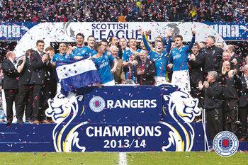 Plakát Rangers FC - League One Winners 13/15