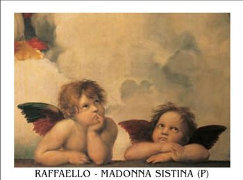 Reprodukcja Raphael Sanzio - Sistine Madonna, detail – Cherubs, Angels 1512