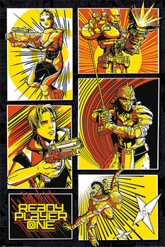 Plakat Ready Player One - Comic Panels
