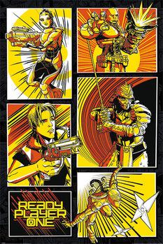Plakát  Ready Player One Hra Začíná - Comic Panels