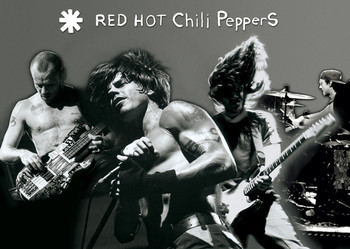 Plakát Red hot chili peppers - montage