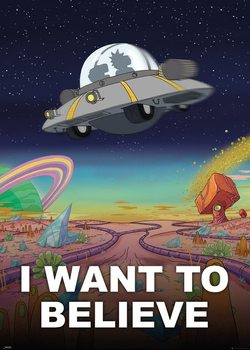Plakát  Rick a Morty - I Want to Believe