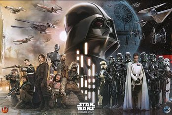 Plakát Rogue One: Star Wars Story - Rebels Vs Empire