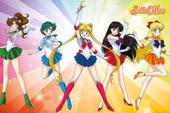 Plakat Sailor Moon - Rainbow