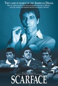Plakát SCARFACE - blue