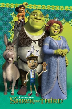 Plakat Shrek 3 - group