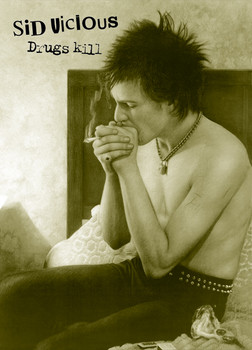 Plakát Sid Vicious - drugs kill