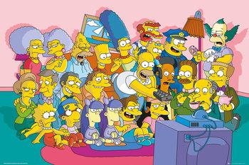 Plakat Simpsonowie - Couch Cast